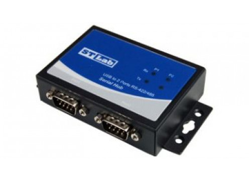 STLAB USB 2.0 to RS422/RS485 X2 Adapter with speeds up to 1Mbps + Auto Detect and Switching