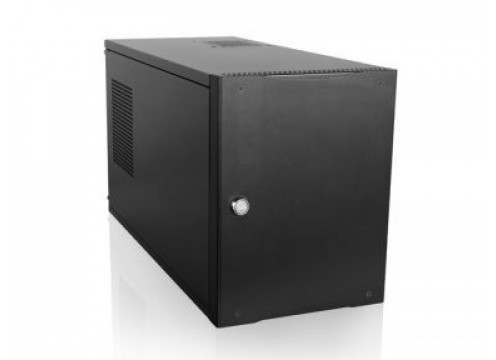 "Industrial Case Compact Stylish Mini-ITX with 5 5.25"" bays"