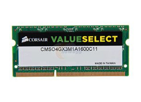 DDR3 8GB 1600 CL11 SODIMM CMSO8GX3M1C1600C11 Value Corsair