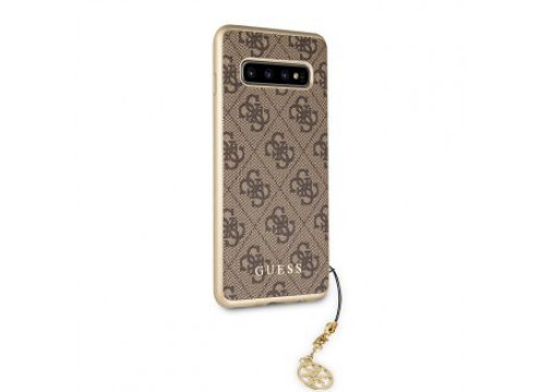 Galaxy S10 Lite GUESS Logo CHARMS COLLECTION Hard Case - Brown