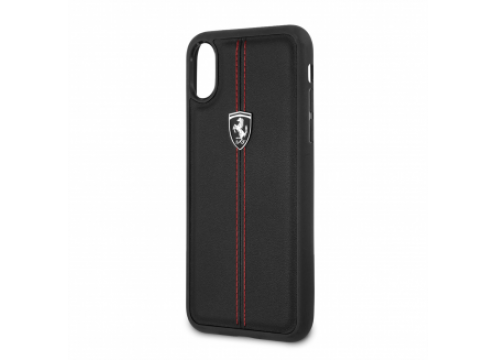 IPhone XR FERRARI HERITAGE Hard Case W Vertical Contrasted Stripe - Black