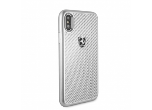 IPhone XR FERRARI HERITAGE Real Carbon Hard Case - Silver