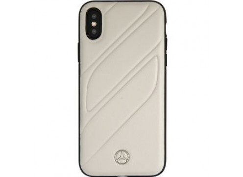 IPhone XS MAX MERCEDES NEW ORGANIC I Gen Leather Hard Case Crystal - Grey