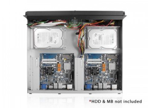 2U dual system Extreme performance Xeon 8-core / 32G / 512G SSD Virtualization station 63W