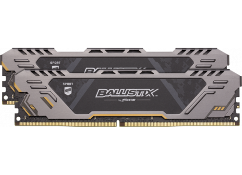 DDR4 16G (8Gx2) 3000 CL17 Crucial Ballistix Sport AT Grey