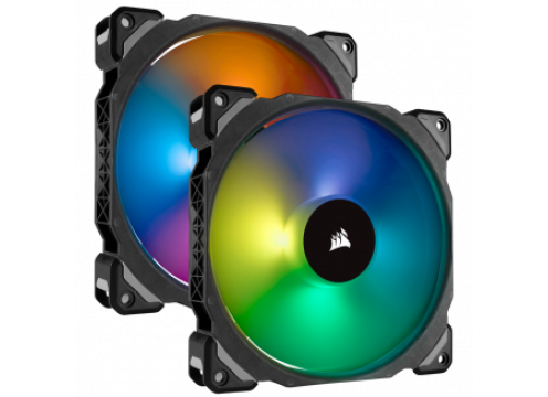 Corsair ML140 PRO RGB LED 140MM PWM Premium Magnetic Levitation Fan 2 Pack