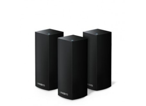 Linksys Velop Whole Home Intelligent Mesh WiFi System, 3-pack AC6600 Black