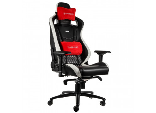 Noblechairs EPIC Real Leather Gaming Chair Black/White/Red