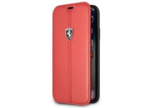 IPhone XR FERRARI HERITAGE Booktype Case W Vertical Contrasted Stripe - Red
