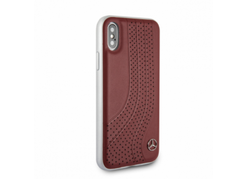 IPhone XR MERCEDES Genuine Leather Hard Case NEW BOW I - Brown