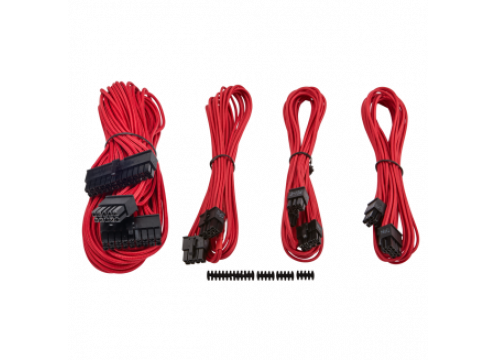 Corsair Premium Individually Sleeved PSU Cable Kit Starter Package Type 4 (Generation 3) - Red