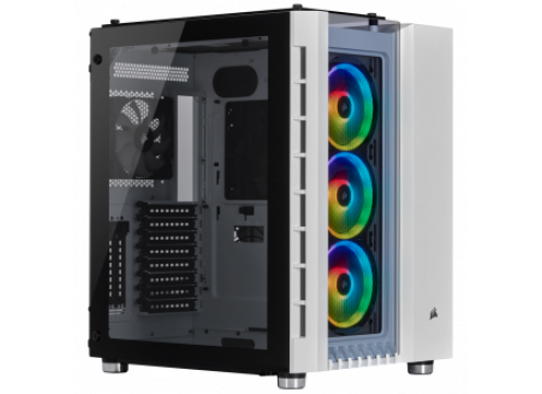 Corsair Crystal 680X RGB Tempered Glass ATX Case - White