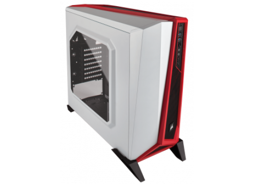 Corsair Carbide SPEC-ALPHA Mid-Tower Gaming Case White/Red
