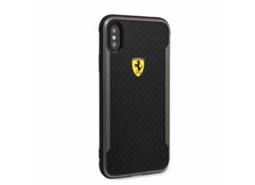 IPhone XR FERRARI ON TRACK Racing Shield PU Rubber Soft Touch - Carbon