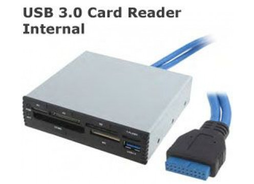 "Premium 3.5"" Front Bay Card Reader With USB 3.0"