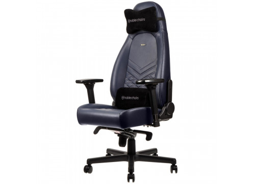 Noblechairs ICON Real Leather Gaming Chair Midnight Blue/Graphite עור אמיתי